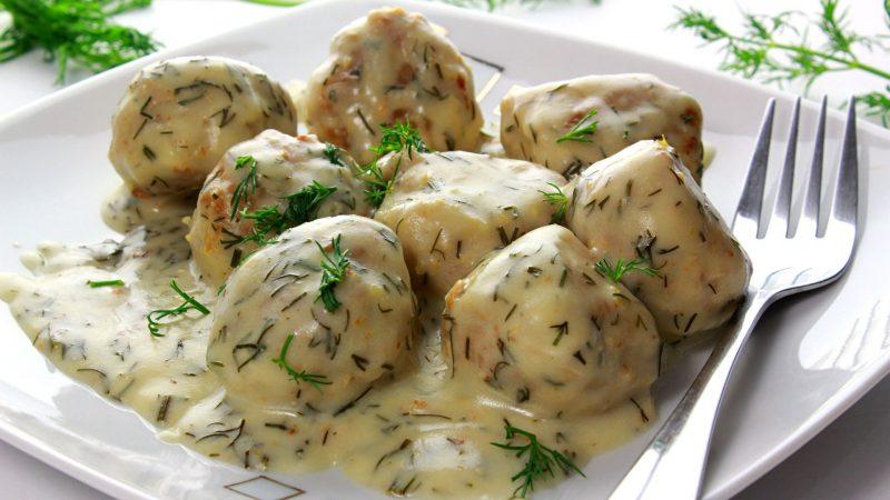 Danish Meatballs with Dill sauce