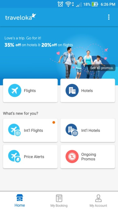 Traveloka Hotel Booking