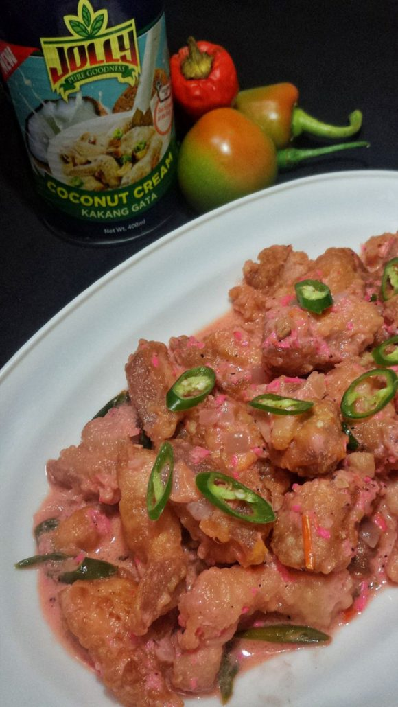 Pork Binagoongan with Coconut Cream