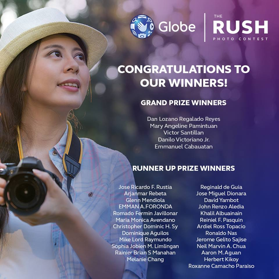 globe the rush photo contest