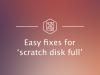 scratch disk full